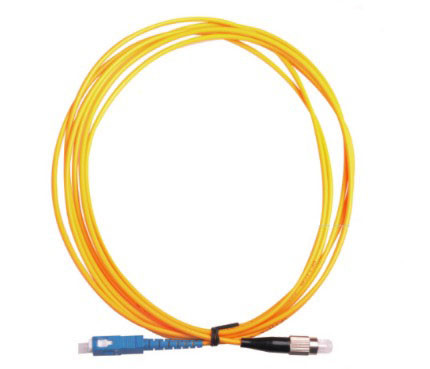 FC - SC Optical Fiber Patch Cord Single Core Single Mode Fiber Optic Cable