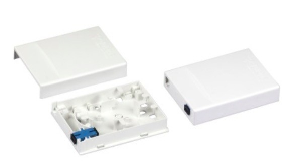 SC Fiber Optic FTTH Distribution Box Wall Mount Termination Box ABS Material