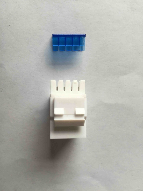 CAT3 Rj45 Keystone Jack White Rj11 Modular Jack UTP Gold Plating With Dust Cap