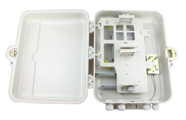 Inserted Type 32 Core Fiber Optic Splitter Box 350 * 275 * 100mm Double Layer Design