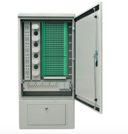 288 Core SMC Fiber Optic Cross Connect Cabinet For Outdoor Cable Connections