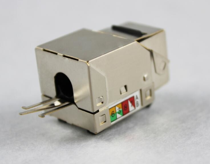 Cat 6 SFTP Punch Down Rj45 Keystone Jack Metal protection Module